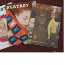 PLAYBOY 1955 1956 MAGAZINES 3 ISSUES NOV MAY DEC