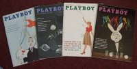 Playboy 1959 Magazines Oct July Nov Jan