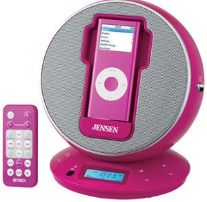 Jensen Docking Digital Music System for iPod - Pink