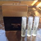 TOM FORD NOIR EXTREME - THREE 1.7 ml Cologne Sample Spray Atomizers - 100% Authentic