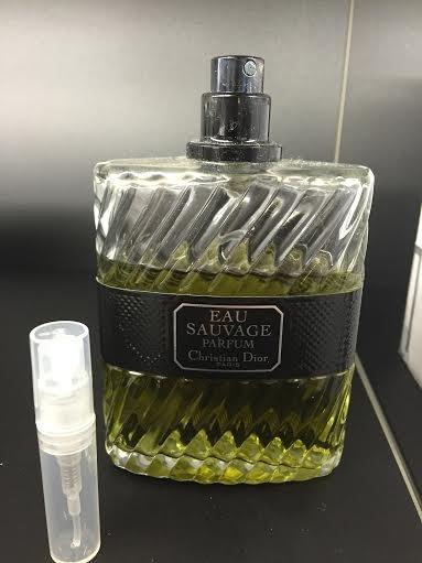 CHRISTIAN DIOR EAU SAUVAGE PARFUM -  1.7 ml Cologne Sample Spray Atomizer - 100% Authentic