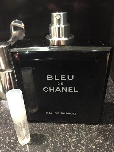 BLEU DE CHANEL Eau De Parfum - 1.7 ml Cologne Sample Spray Atomizer - 100% Authentic