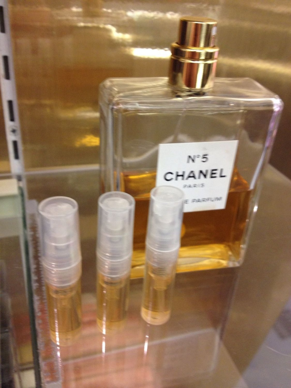 CHANEL NO 5 EAU DE PARFUM - THREE 1.7 ml Perfume Sample Spray Atomizers - 100% Authentic