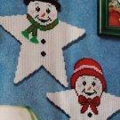 Set of 2 Snowman stars