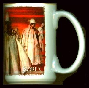 KOREA War SOLDIER Commemorative MUG Cuppa CERAMIC