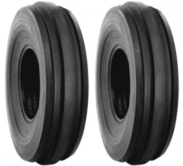 TWO - 6.00-16 BKT Front tractor F3 3rib tires w/tubes FREE SHIP