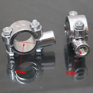 "Crusier Motorcycle Chopper 1"" Handlebar Mirrors Mount Holder Clamps Adaptors"