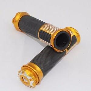 """Gold 7/8"""" Rubber Handlebar HandGrips For Yamaha YZF R1 R6 Kawasaki ZX6R ZX7R ZX"""