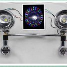 LED Turn Signal Driving COLORFUL Spot lights Motorcycle Touring Chopper Custom