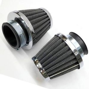 2x 50 mm Air Filter Cleaner Crusier Chopper Motorcycle Bikes ATV Dirt Pit Bike