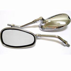 Chrome Mirrors 10MM Right thread For Suzuki Boulevard C50 M50 S40 M109R S50 C90T