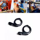 "Black 1"" Handlebar Turn signal / Mirror Clamps mount Cruiser Chopper Bobber Cafe"