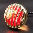 Gold GRILLE RODDER FINNED Tail Brake Light For Harley RAT HOT ROD DUO CAFE RACER