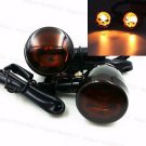 Black Skull Lens Metal Bullet TURN SIGNALS For Harley Dyna Sportster XL 883 1200