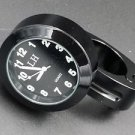 "7/8""- 1"" Black Motorcycle handlebar Clock for KAWASAKI VULCAN 900 1700 1600 500"