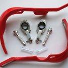 """Red 1 1/8"""" Dirt Bike ATVs Fat Bar Hand Guards For Honda Kawasaki Suzuki Yamaha"""