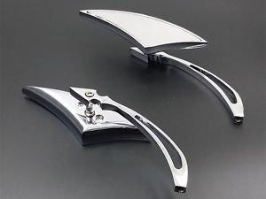 Chrome Spear Rearview Side Mirrors For Suzuki Boulevard Bandit Marauder Intruder