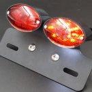 LED Brake Stop Tail Light Bracket Holder ATV Cruiser Cafe Racer Dual Sport XL FL