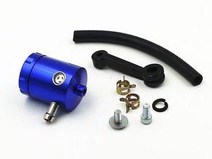 Blue CNC Universal Motorcycle Front Brake Tank Fluid Reservoir Master Cylinder