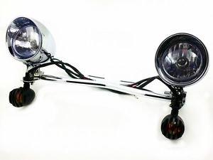 Grille Turn Signal Spot light Bar For Honda Shadow VT Cruiser ACE Aero Spirit RS