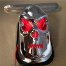 motorcycle Red Skull Brake Tail Light Signal For Harley Davidson Bike Chrome