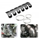 "10"" Universal Exhaust Heat Shield Guard Cover For Honda Yamaha Kawasaki BMW KTM"