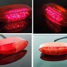 Red LED Brake Stop Tail License Light ATV Dual Sport Motorcycle Quad Custom Bike