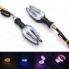 Pair 10mm LED Turn Signal Light Indicator Light Lamp Cruiser Chopper Cafe Racer