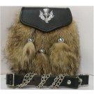 Handmade German Shepherd Sporran Kilt Bag Leather Pouch