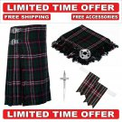 50 Size Scottish National Scottish 8 Yard Tartan Kilt Package -Flyplaid-Flashes-Kilt Pin-Brooch