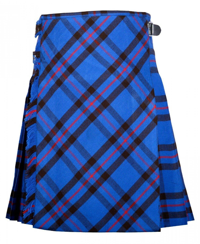 40 Size Bias Apron Traditional 5 Yard Scottish Kilt for Men �Elliot Modern Tartan