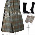 40 size 8 Yard TARTAN KILT - Black Watch Weathered Kilt Package Free Accessories,Pin,Flashes,Socks
