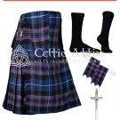 40 size 8 Yard TARTAN KILT - Pride of Scotland TARTAN Package Free Accessories,Pin,Flashes,Socks
