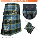 38 Size Scottish 8 Yard ANDERSON TARTAN Kilt Package – KILT – SPORRAN – FLASHER