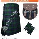 48 Size Scottish 8 Yard Black Watch TARTAN Kilt Package – KILT – SPORRAN – FLASHER