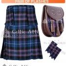 34 Size Scottish 8 Yard Pride of Scotland TARTAN Kilt Package – KILT – SPORRAN – FLASHER