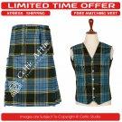 38 Size New Scottish 8 Yard ANDERSON Tartan Kit for Men – Free Matching Vest / Waistcoat