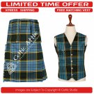 40 Size New Scottish 8 Yard ANDERSON Tartan Kit for Men – Free Matching Vest / Waistcoat