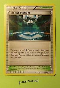 Furious Fists Pokemon Card - Fighting Stadium (90 of 111)