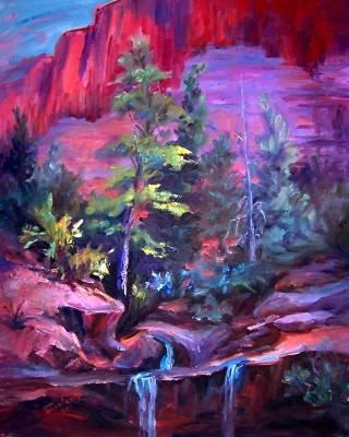 """""""Zion""""Mt Zion National Park Original Landscape Oil Painting Impressionism"""
