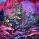 """Zion""Mt Zion National Park Original Landscape Oil Painting Impressionism"