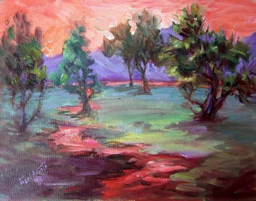 """Open Field"" Plein Air Original California Landscape Oil Painting Acosta Listed Artist"
