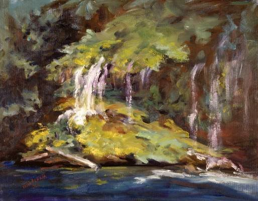 """Vail of Tears"" Original Calif Landscape Oil Painting Impressionism"