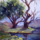 "SALE: ""Designing Tree"" Orig Calif Landscape impressionism by listed colorest Acosta"