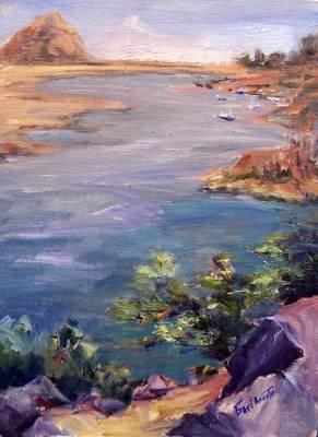 """Morro Bay"" Original Plein-Air Seascape Oil Painting by Geri Acosta Artist"