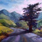 """On The Road Again"" Original Calif landscape oil painting by winning artist Geri Acosta"