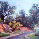 "ON SALE: ""Jeannie's Neighbors"" Original Calif plein-air by winning colorist Geri Acosta"
