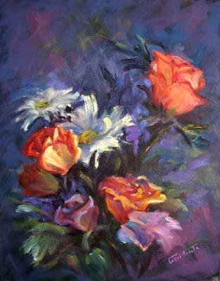 """""""Burst of Blooms"""" an Original Oil Painting by Winning Colorest Geri Acosta"""