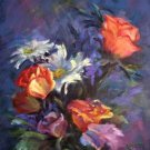 """Burst of Blooms"" an Original Oil Painting by Winning Colorest Geri Acosta"