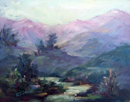 """""""Small Landscape"""" an original oil painting by winning colorest Geri Acosta"""